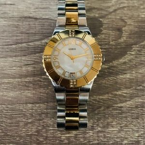 Two tone guess watch